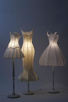 Dress lamps - What a cute idea!