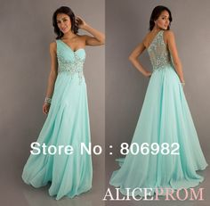 Sexy One Shoulder Long Mint Green Bridesmaid Dresses Prom Ball Gowns(Z325) Size 2 4 6 8 10 12 14 16 +, Style: Z260 $98.00