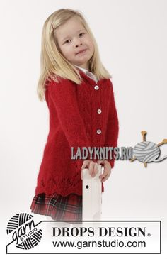 Жакет с капюшоном спицами для девочки от 2 до 12 лет Bright Sally («Яркая Салли») от Дропс