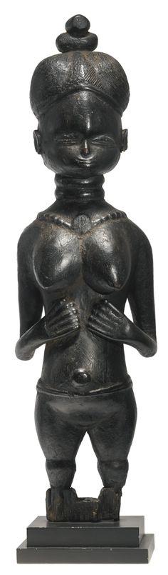 Mende Minsereh Figure, Sierra Leone African Sculptures, African Masks, Sierra Leone, Tribal Art, Oeuvre D'art, Archaeology, Sculpture Art, Les Oeuvres, Modern Art