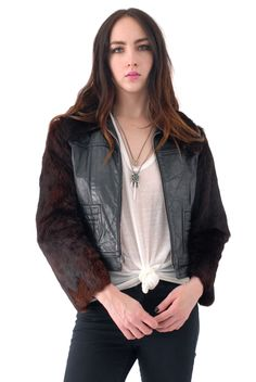 Abby Butter Leather Moto Jacket