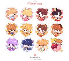 Wanna-One Bts Chibi, Anime Chibi, Kpop, Lai Guanlin, Daily Drawing, First Art, Kawaii Art, Cute Characters, Cute Stickers
