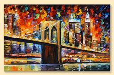 Brooklyn Bridge  Limited Edition New York City by AfremovArtStudio