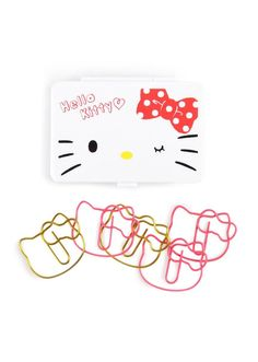 Make your paperwork supercute with these sweet Hello Kitty paper clips from Sanrio.