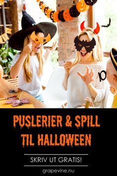 Tips till barnens halloweenfest! Halloween Masker, Halloween 2019, Halloween Party, Holidays And Events, Bingo, Finland, Frankenstein, Education, Prints