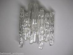 Vintage Mid Century Modern Unusual Resin Ice Lamp Wall Sconce Light Fixture VGC