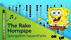 The Rake Hornpipe (SpongeBob) on Tin Whistle D + tabs tutorial