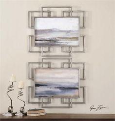 Uttermost Gray Mist Framed Art S/2