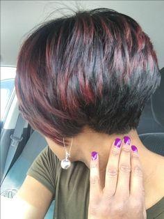 Thin Hair Cuts pixie cut for thin curly hair Short Layered Haircuts, Short Bob Hairstyles, Pixie Haircuts, Weave Hairstyles, Casual Hairstyles, Short Bobs, Hairstyles 2016, Short Pixie, Stacked Haircuts