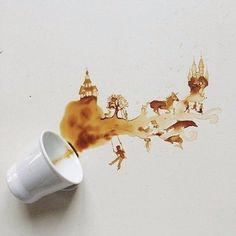 Coffee stain art love it!
