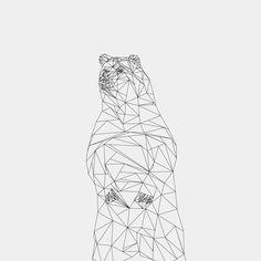 Geometric Animals - The Bear on Behance