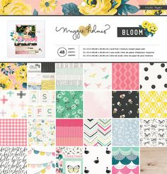 Crate Paper - Maggie Holmes Collection - Bloom - 12 x 12 Paper Pad