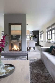 Home living room, living room decor, home fireplace, fireplaces, modern House Design, Interior, Home Fireplace, Living Room Modern, Fireplace Design, House Interior, Luxury Interior Design, Interior Design, Living Room Design Modern