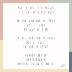 Gedichtje, versje, van Gewoon JIP. Te koop als kaartje in de webshop vanaf  €  2,20
