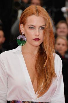 Riley Keough long auburn hair at the Cannes Film Festival 2014