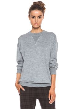 ISABEL MARANT | Obli Cashmere-Blend Sweatshirt in Grey