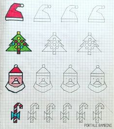 Graph Paper Drawings, Graph Paper Art, Painting For Kids, Drawing For Kids, Math Work, Fru Fru, School Art Projects, Tapestry Crochet, Nouvel An