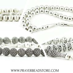 Silver Prayer Beads, Tasbih #tasbih #prayerbeads #worrybeads