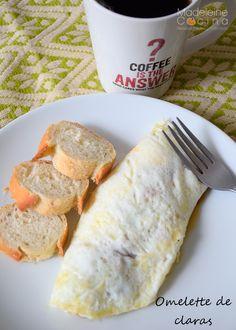 Receta omelette claras #receta #desayuno #omelette