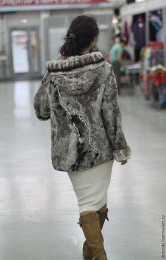 Купить Парка - серебряный, орнамент, жакет, куртка женская, парка, Валяние, куртка с капюшоном