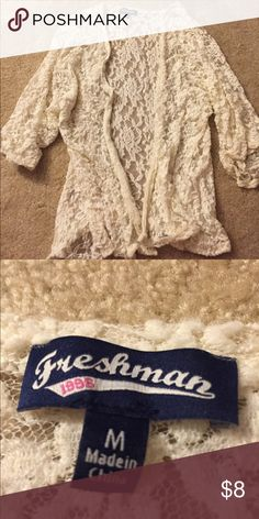 Cute white lace flower cover up Never worn but super cute and comfy cover up. Perfect for the boho look! Freshman Other