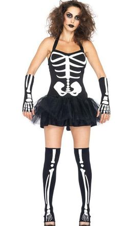 b433077f96f0 Lingerie Skeleton Costume Halloween Skeletons Zombie Dress Dress Dress  Nightclub Rave Clothing Costume Group Themes Halloween Costume 4 People  From ...