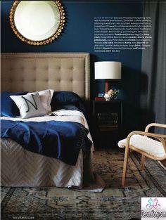 Image result for dark blue bedroom