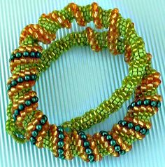 Cellini Spiral Necklace - green - k-224