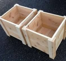 SET OF TWO Square Foot Cedar Planter Box for your Organic Garden - Made in Oregon Ähnliche Artikel w