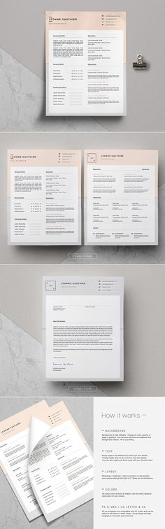 Elegant Resume Templates for MS Word \ iWork Pages \/ Tasteful - iwork resume templates
