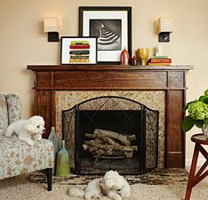 How to build Casual Classic Fireplace hearth and mantel