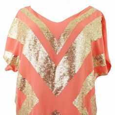 Sequined Patterned Blouse Stunning gold sequined super soft blouse. In like new condition. Offers always welcome! Romeo & Juliet Couture Tops Blouses