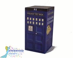NEW DESIGN Dr Who Tardis box OR ring box hand by EnchantedCraft