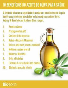 Descubra os 10 benefícios do azeite de oliva para saúde...