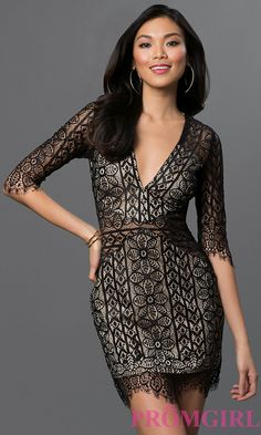 mesh lace dress from promgirl.