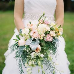 To see more fabulous details about this wedding: http://www.modwedding.com/2014/11/22/charming-outdoor-wedding-alexandra-knight-photography/ #wedding #weddings #bridal_bouquet