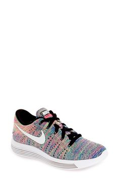 d04e94b29a3c Nike Flex TR 7 (Wolf Grey Racer Pink Stealth) Women s Cross Training...  (£54) ❤ liked on Polyvore featuring shoes