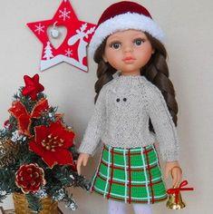Мастер-класс по вязанию крючком юбки для кукол Паола Рейна в технике имитации тканого полотна. Little Darlings, Master Class, Dolls, Christmas Ornaments, American, Holiday Decor, Puppet, Christmas Jewelry, Doll