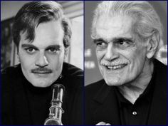 Omar Sharif - then and now. In old age he still had a sparkle in his eyes💝 Actors Male, Actors & Actresses, Hollywood Stars, Classic Hollywood, Hollywood Icons, Omar Sharif Jr, Bad Celebrity Plastic Surgery, Dr Zhivago, Doctor Zhivago