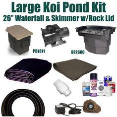 "20 x 20 Large Koi Pond Kit 5,200 GPH Pump Pondbulder 8"" Crystal Skimmer & 26"" Atlantic Big Bahama Waterfall LH4 by Patriot. $1172.50. Ships Truck Freight or FedEx Ground - Additional Carrier Charges May Apply. Liftgate Service is Not Included. Contact Carrier For Liftgate Service Which Is An Additional $85.00. 20 x 20 EPDM LifeGuard Liner (lifetime warranty: 25 years) and 400 Square Feet of Underlayment, Pondbulder 8"" Crystal Skimmer, 26"" Atlantic Big Bahama Waterfall..."