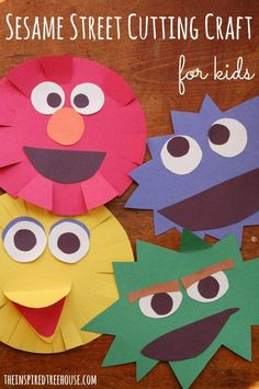 This easy cutting craft for kids is perfect for all of those little Sesame Street lovers! Great practice with scissors skills for kids of all ability levels. Check out this super easy (and super adorable) Sesame Street cutting craft for kids! Craft Activities For Kids, Preschool Crafts, Toddler Activities, Projects For Kids, Easy Crafts, Crafts For Kids, Arts And Crafts, Paper Crafts, Craft Ideas