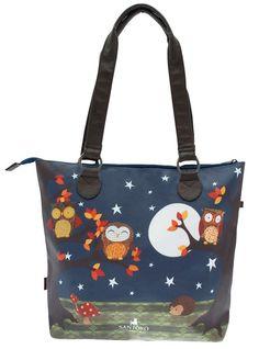Santoro Eclectic Shoulder Bag Zip Closure Night Owls Design New #Gorjuss