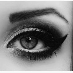 Black Liquid Eyeliner done Cat eye or Egyptian style has been my main eye make up style since I was Addicted! Beauty Makeup, Hair Makeup, Hair Beauty, Eyeliner Makeup, Dramatic Eyeliner, Glamour Makeup, White Eyeliner, Women's Beauty, Dramatic Eyes