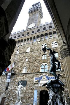 Palazzo Vecchio. Florence, Italy with Magdalen Nabb in Death of a Dutchman
