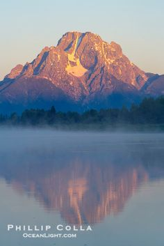 Mount Moran rises above the Snake River at Oxbow Bend, Grand Teton National Park, Wyoming; photo by Phillip Colla
