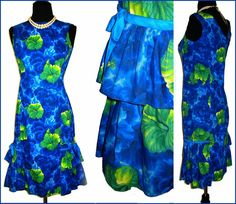 Vintage 1950s Kamehameha Dress Hawaiian Wiggle by vintagediva60, $165.00