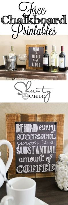 Cute Chalkboard Printable signs!  FREE! by My pages