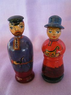 RARE Old Unique Vtg Russian Wooden Hand Painted Hand Made Solids | eBay