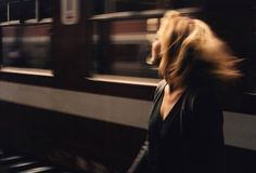 Image de girl, train, and vintage