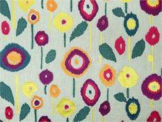 Hamilton Pop Art Multi   Embroidered Linen  BUY NOW:   http://shop.thefabricfinder.com/Hamilton_Pop_Art_Multi.aspx